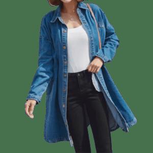 Women's Jeans Wind Coat