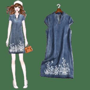 Lady's Jeans Dress