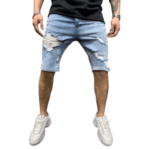Men's Washed Jeans Shorts