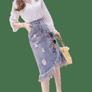 Women's Jeans Skirts