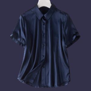 Women's Silk Short Sleeve Shirts