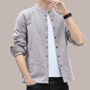 Men's Cotton Stang Collar Shirts